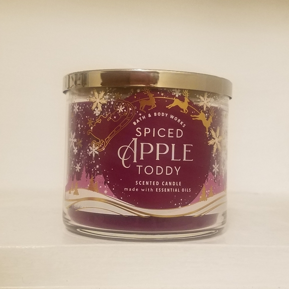 spiced apple toddy 3 wick candle